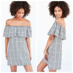 NWT UO Cooperative Gingham Off Shoulder Dress